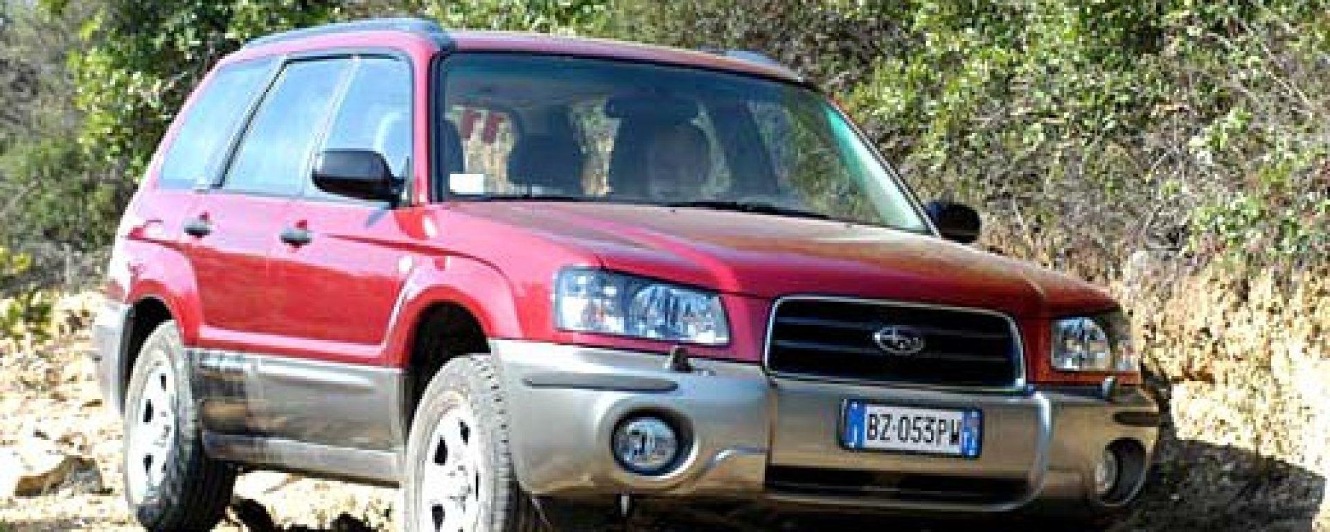 Su strada con laSubaru Forester my 2003