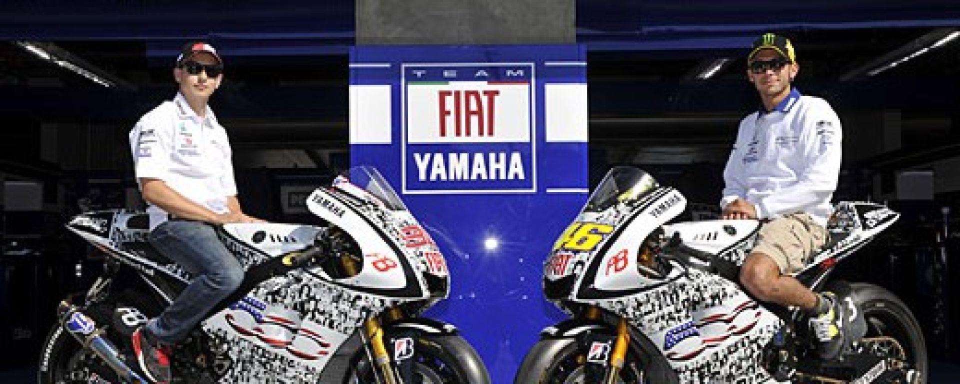 Una Yamaha M1 speciale a Laguna Seca