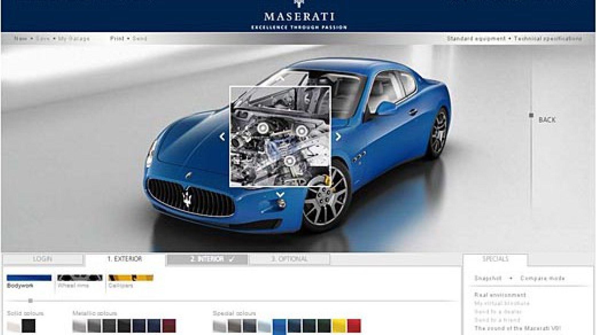 Maserati Costruisci On Line La Tua Granturismo Motorbox