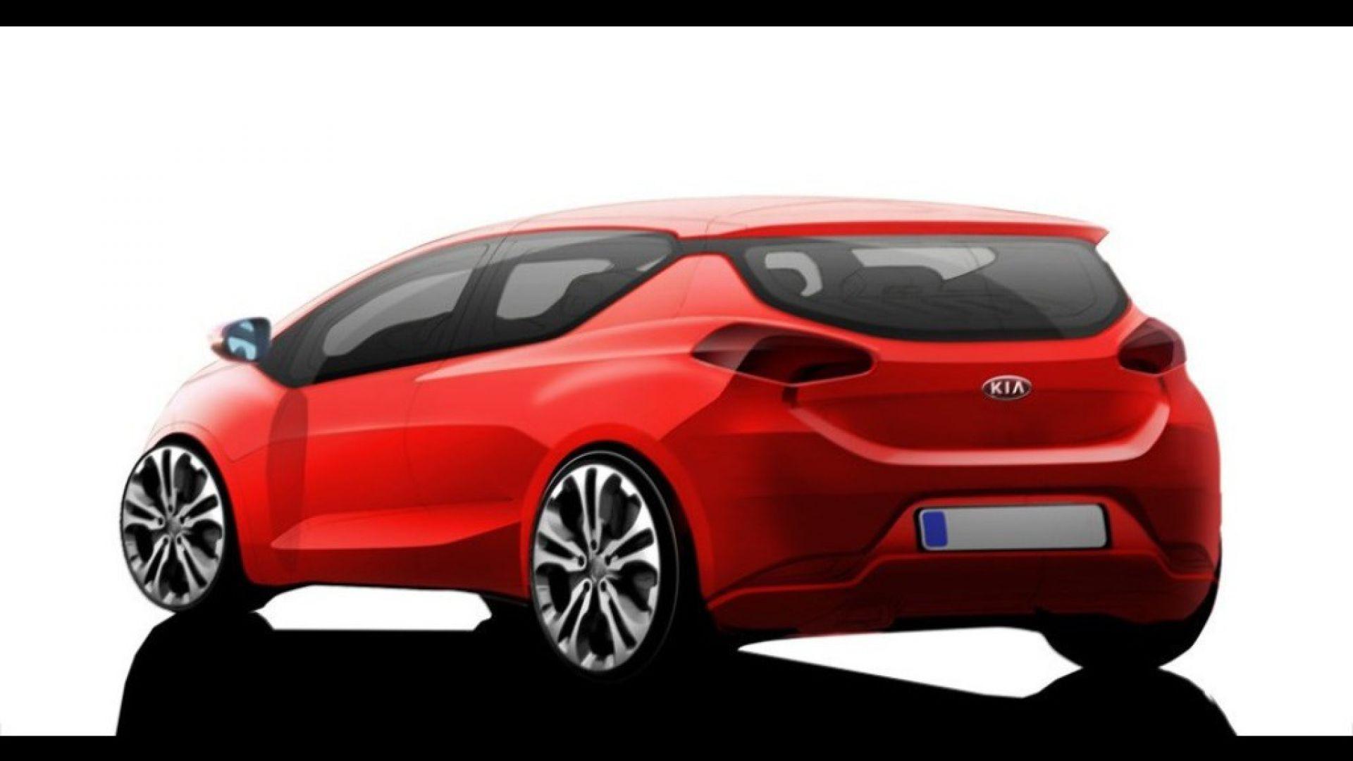 Immagine 0: Kia pro cee'd 2012: il bozzetto a colori