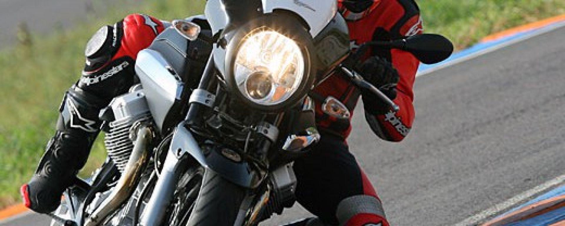prova: moto guzzi 1200 sport - motorbox