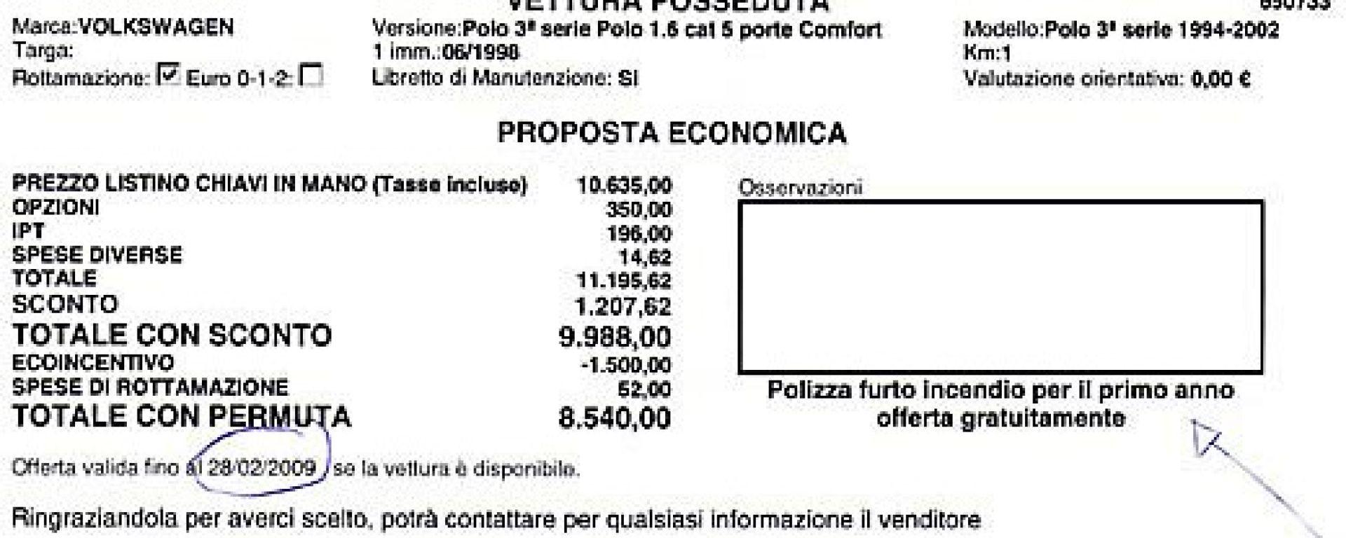 La verità sugli incentivi 2009