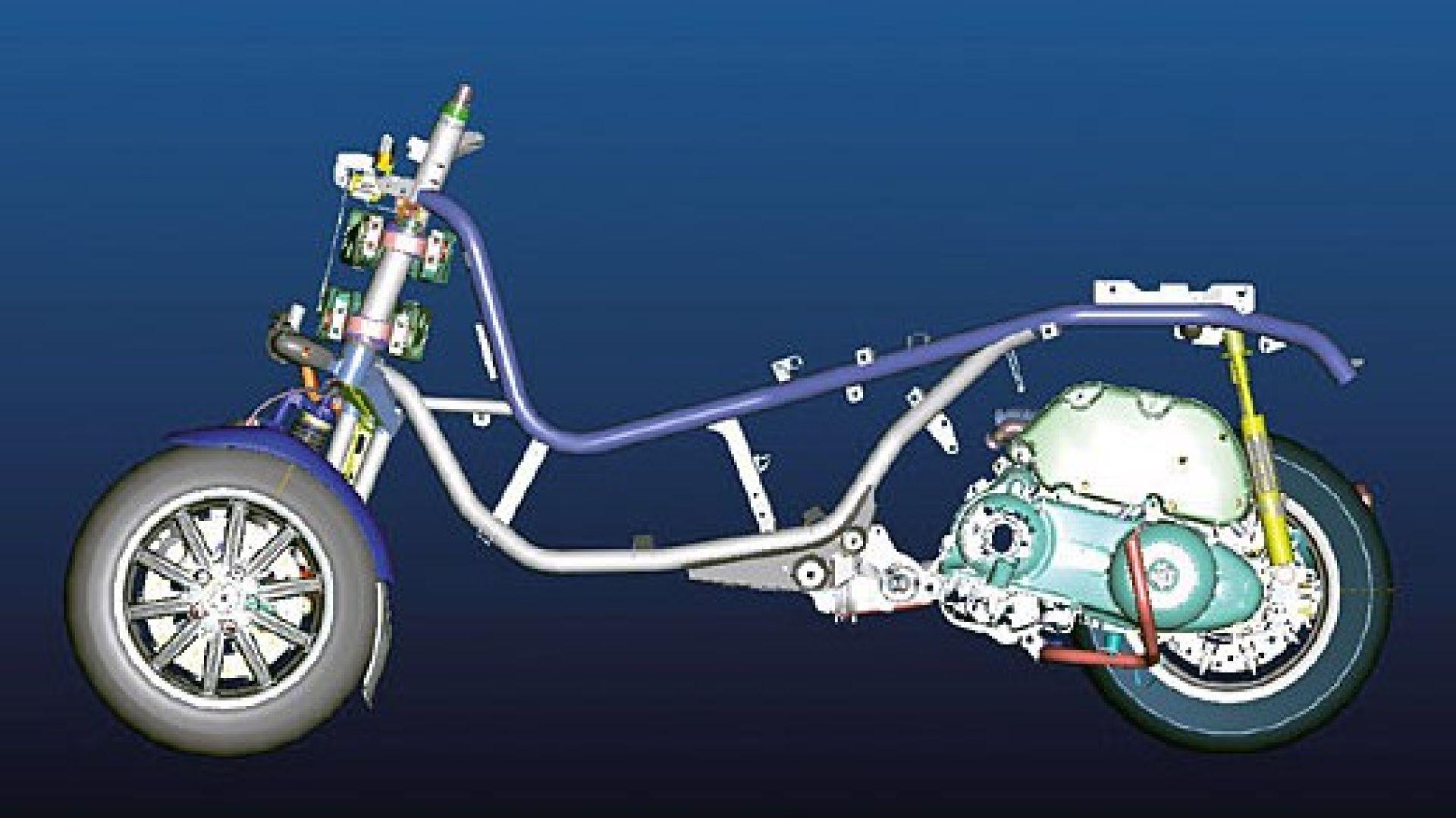 Immagine 21: Piaggio MP3, lo scooter con tre ruote
