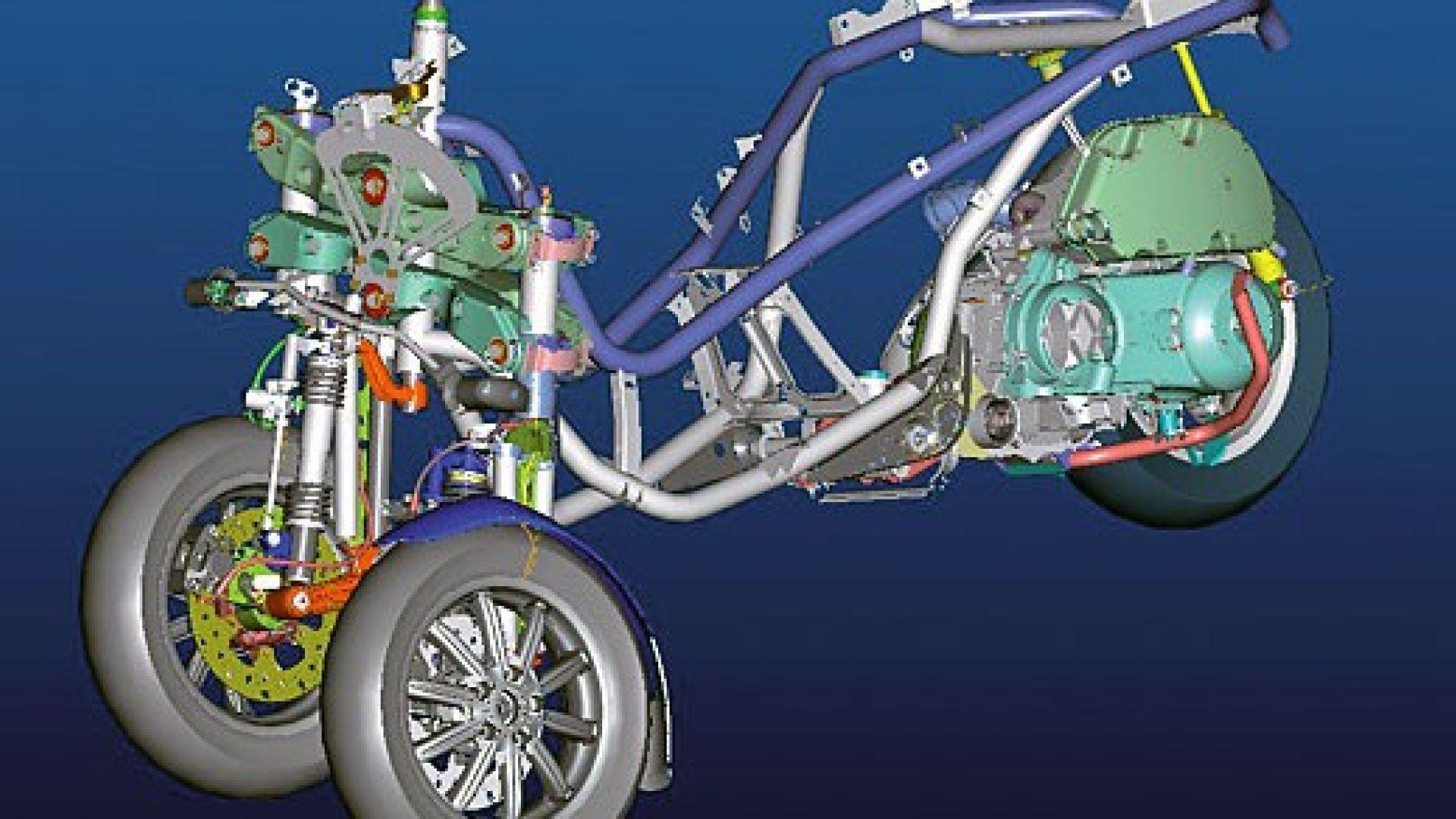 Immagine 22: Piaggio MP3, lo scooter con tre ruote
