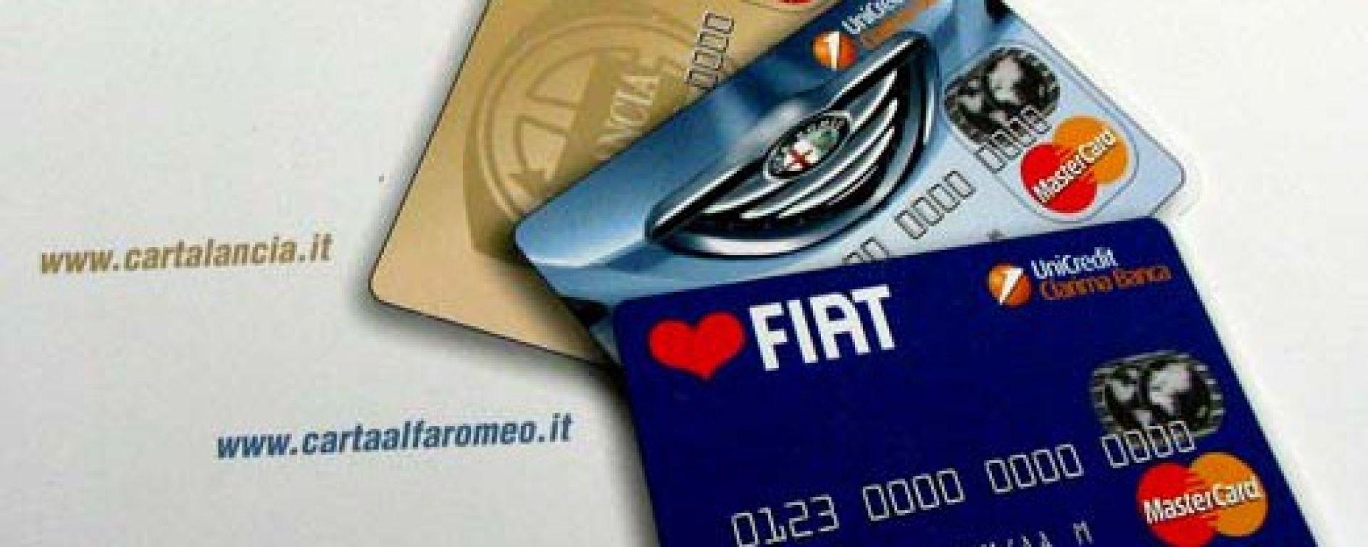 FIAT: arrivano le carte di credito