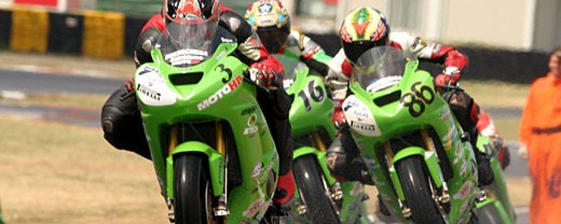 In gara nel Kawasaki Ninja Trophy