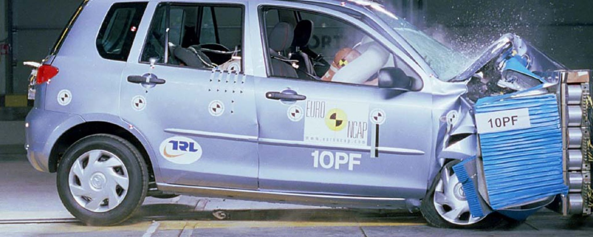 Crash test: i risultati di novembre 2003