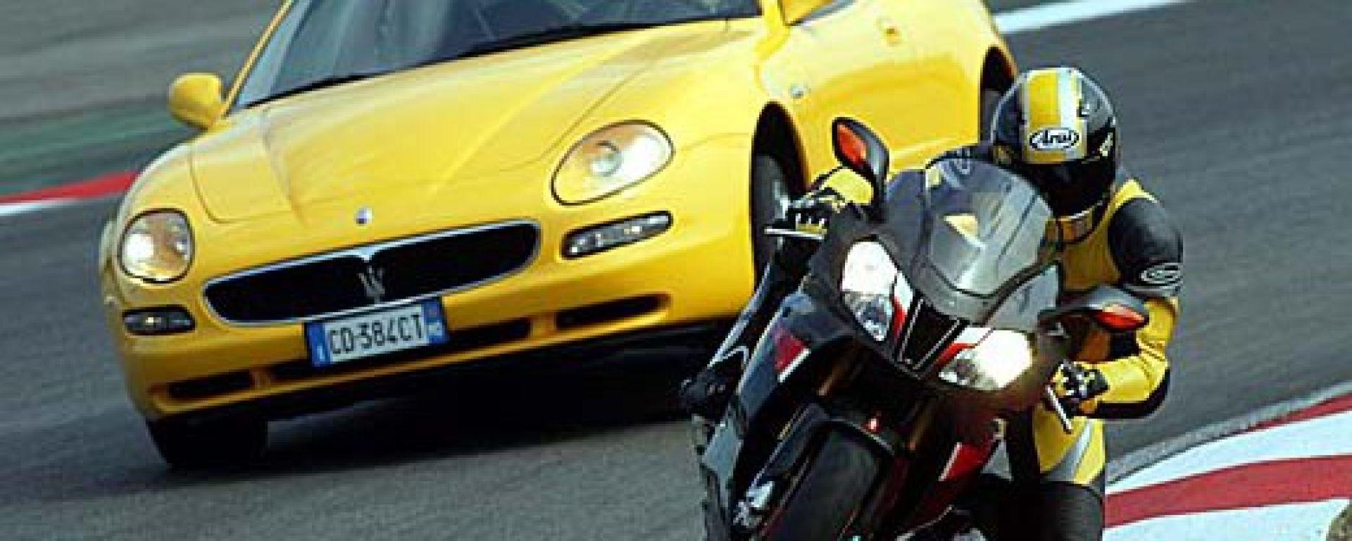 Maserati Coupè GT vs Aprilia RSV Nera