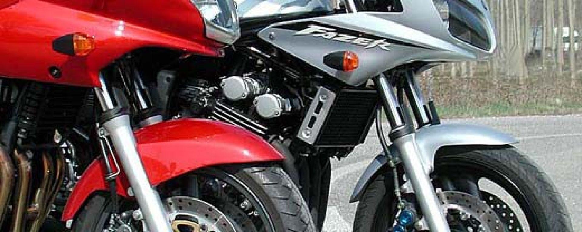 Kawasaki ZR-7S vs Yamaha Fazer 600