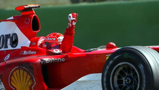 1° Michael Schumacher, 180 GP con la Ferrari