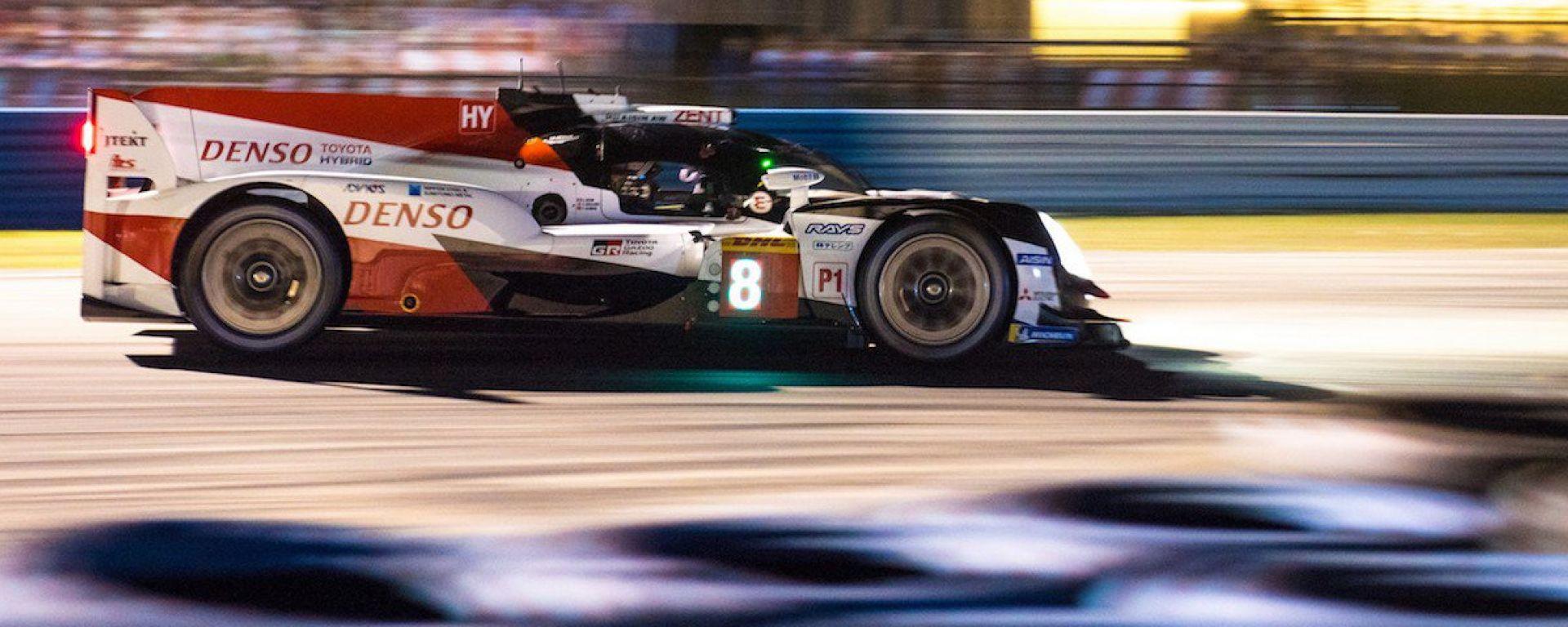 1000 Miglia di Sebring 2019: la vittoria va alla Toyota di Alonso, Nakajima e Buemi