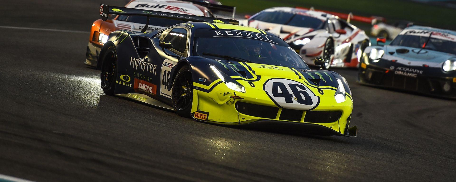 12 Ore del Golfo 2019, la Ferrari 488 di Valentino Rossi (Kessel Racing)