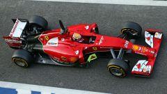 2014, Marciello alla guida della Ferrari nei rookie test di Formula 1