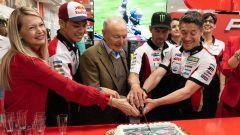 21° incontro tra LCR Honda e Givi a Brescia: Cal Crutchlow, Taka Nakagami, Giuseppe Visenzi e Lucio Cecchinello tagliano la tort