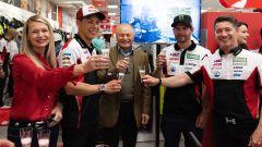 21° incontro tra LCR Honda e Givi a Brescia: Cal Crutchlow, Taka Nakagami, Giuseppe Visenzi e Lucio Cecchinello