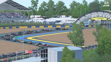 24 Ore di Le Mans virtuale 2020: le auto affrontano la chicane Dunlop su rFactor2
