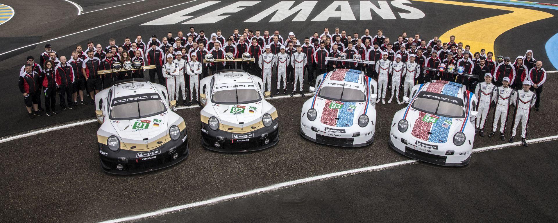 24h Le Mans: Porsche con quattro vetture anche nel 2020