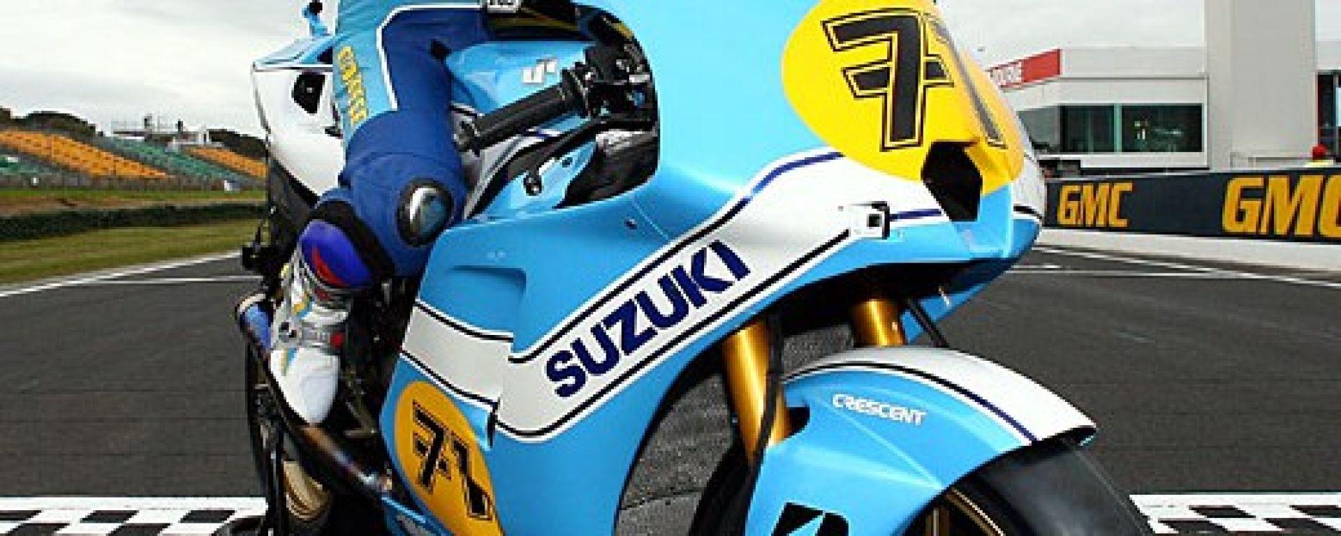 Una Suzuki GSV per ricordare Sheene