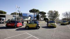 300 Miglia smart: la partenza dalla sede di Mercedes Italia a Roma