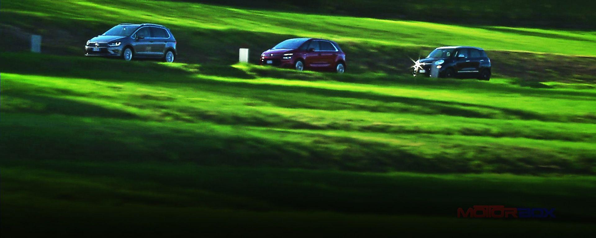 500L Trekking vs C4 Picasso vs Golf Sportsvan: come vanno