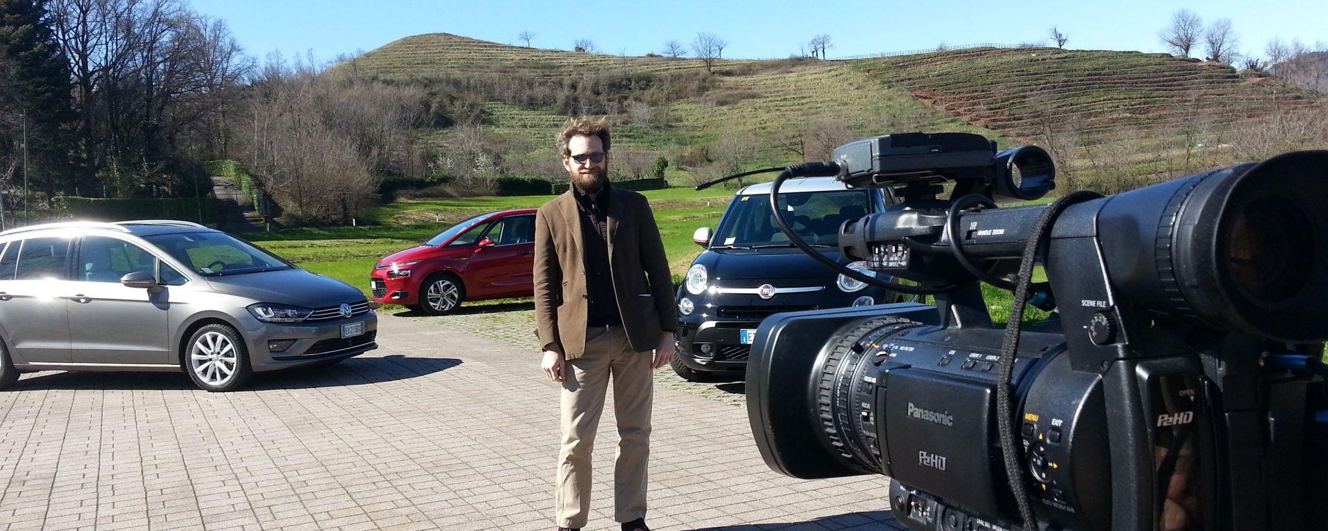 500L Trekking vs C4 Picasso vs Golf Sportsvan: il video
