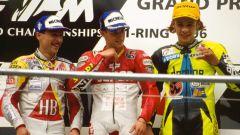 7° Ivan Goi – GP Austria 1996 125 a 16 anni e 157 giorni - Sul podio con Valentino Rossi
