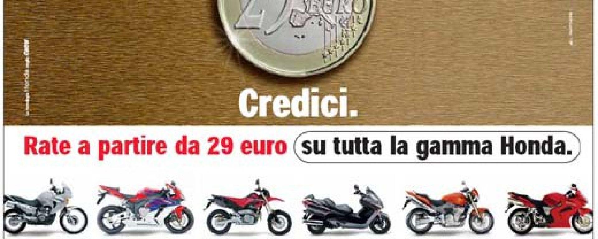 HONDA: una moto con 29 Euro