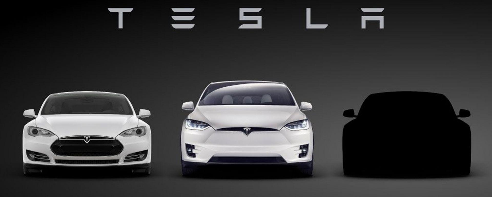 Tesla Model 3: pubblicato il primo teaser