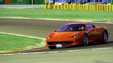 A Fiorano con la Ferrari 458 Italia