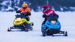 A Snow Kids Yamaha i bambini provano gratis le motoslitte Yamaha SRX 120R