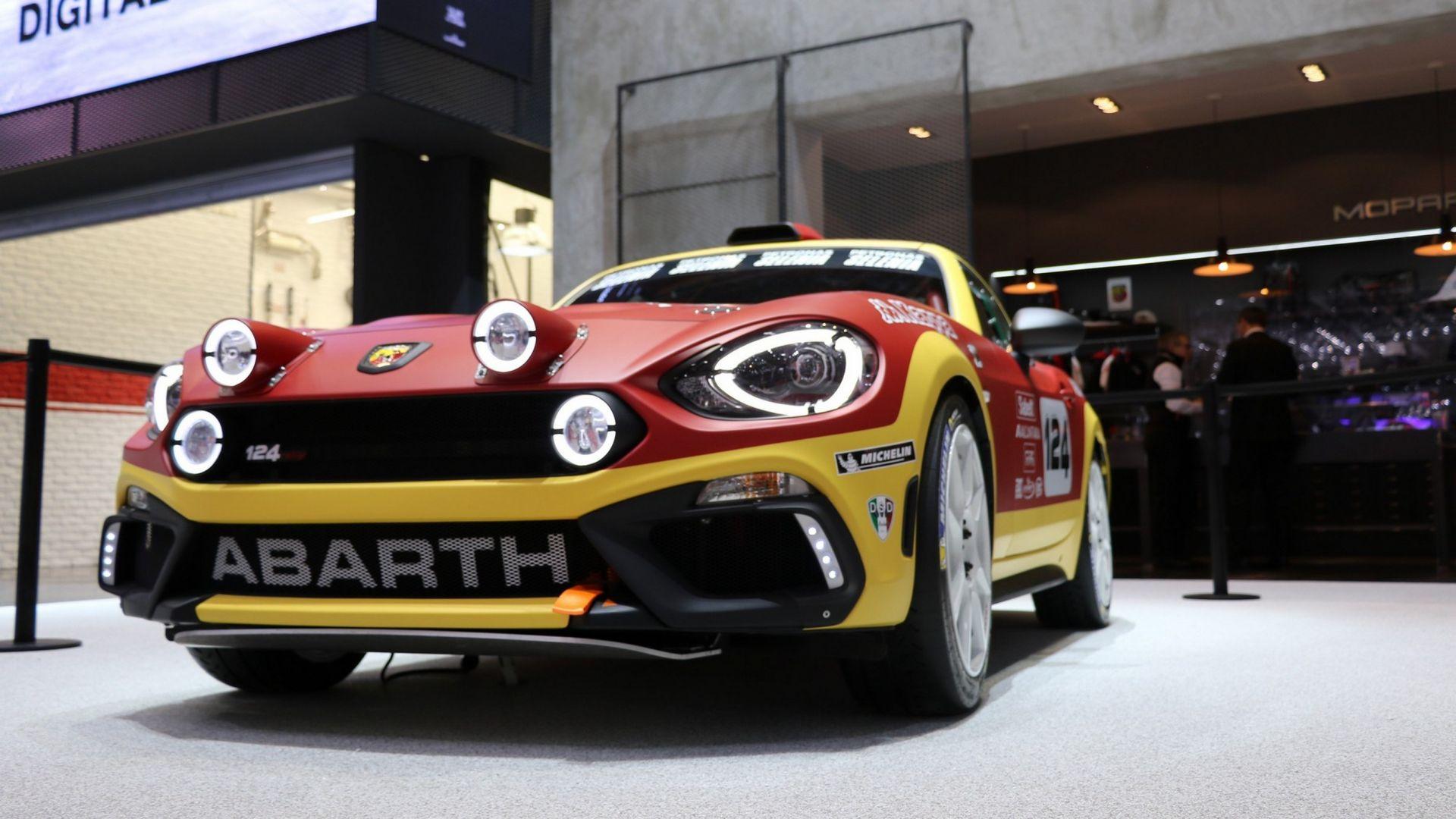 rally abarth 124 rally lo scorpione con 300 cv motorbox. Black Bedroom Furniture Sets. Home Design Ideas