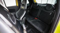 Abarth 595 Competizione: dettaglio dei sedili posteriori