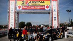 Aci Rally Italia Talent, foto di gruppo dopo la prova in pista della Suzuki Swift RS