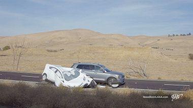 ADAS: la Telluride nel test (fallito) di frenata con veicolo bloccato che occupa parzialmente la corsia