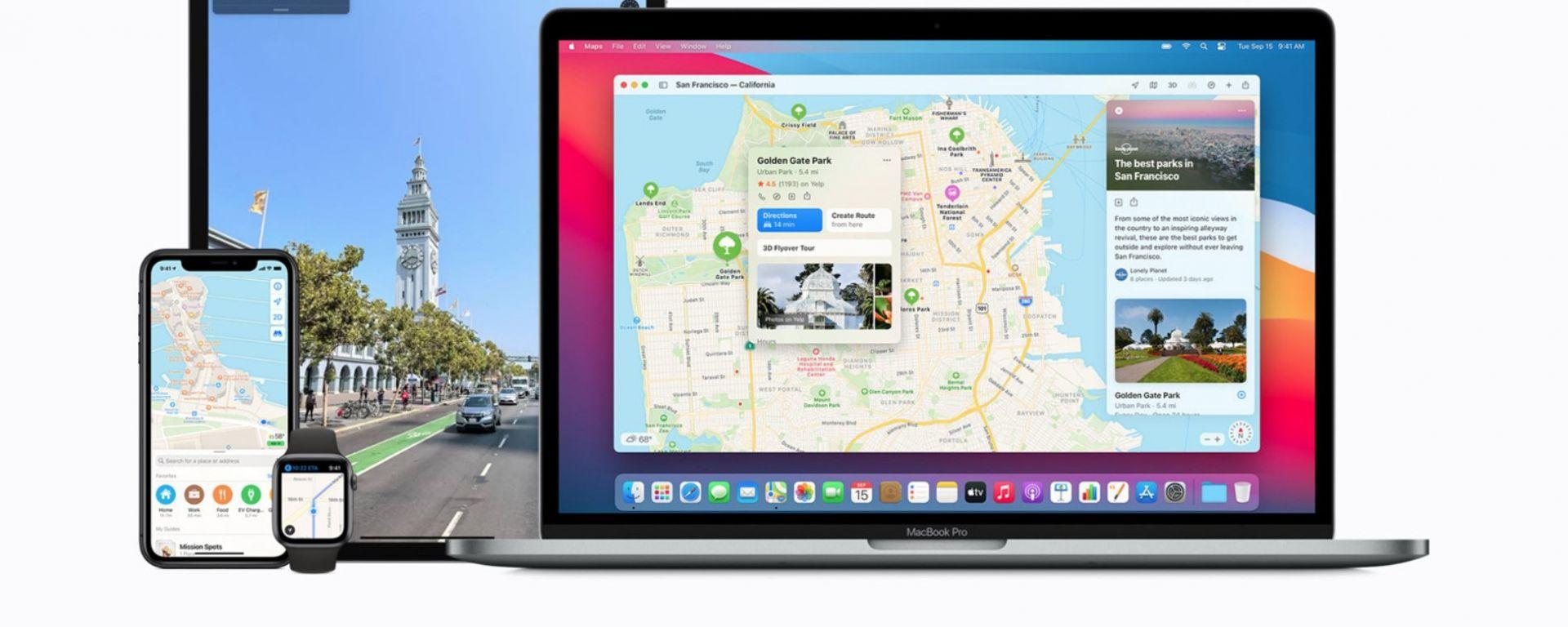 Aggiornamenti in arrivo per Apple Mappe
