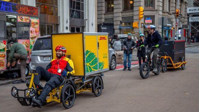 Al via la sperimentazione delle cargo e-bike per le consegne a New York