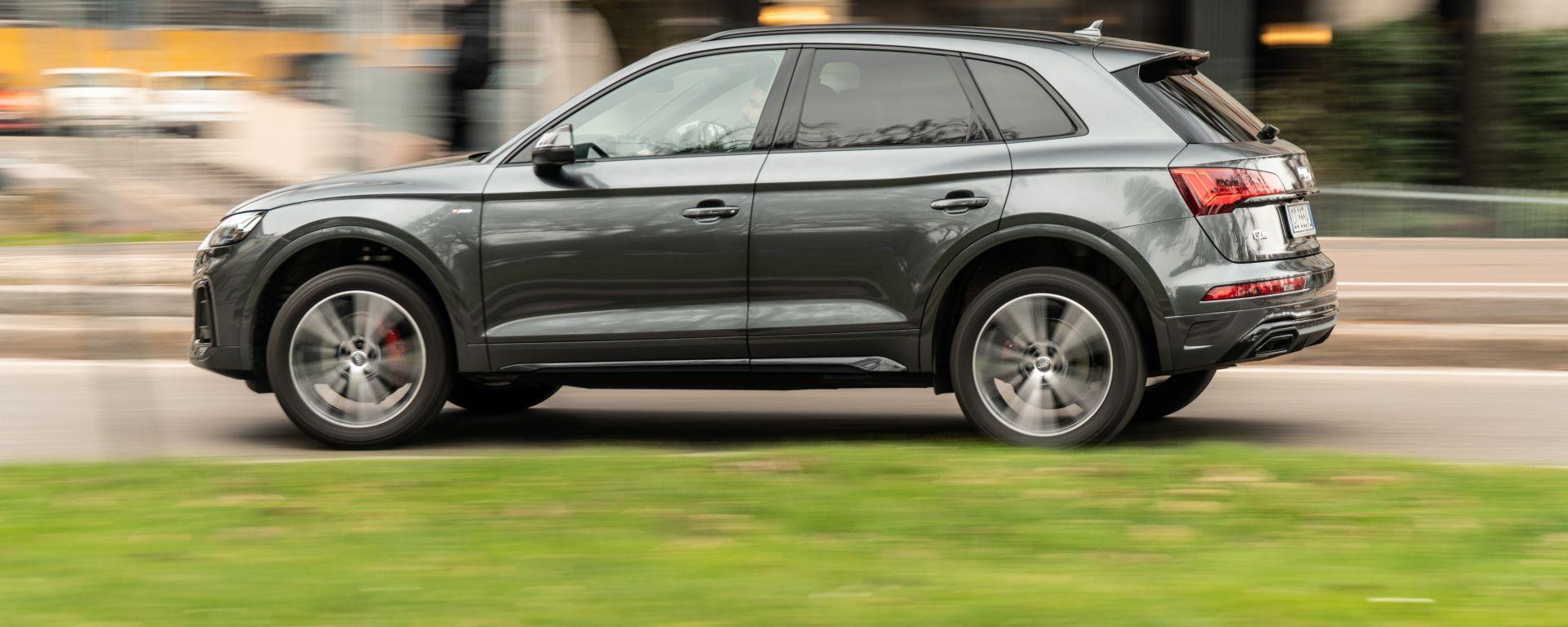 Al volante della Audi Q5 40 TDI quattro S tronic S line plus 2021