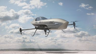 Alauda Airspeeder Mk3 in volo