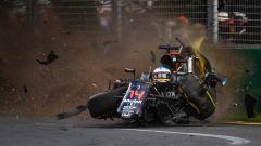 Albert Park di Melbourne - incidente di Fernando Alonso 2016