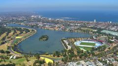 Albert Park di Melbourne - vista aerea