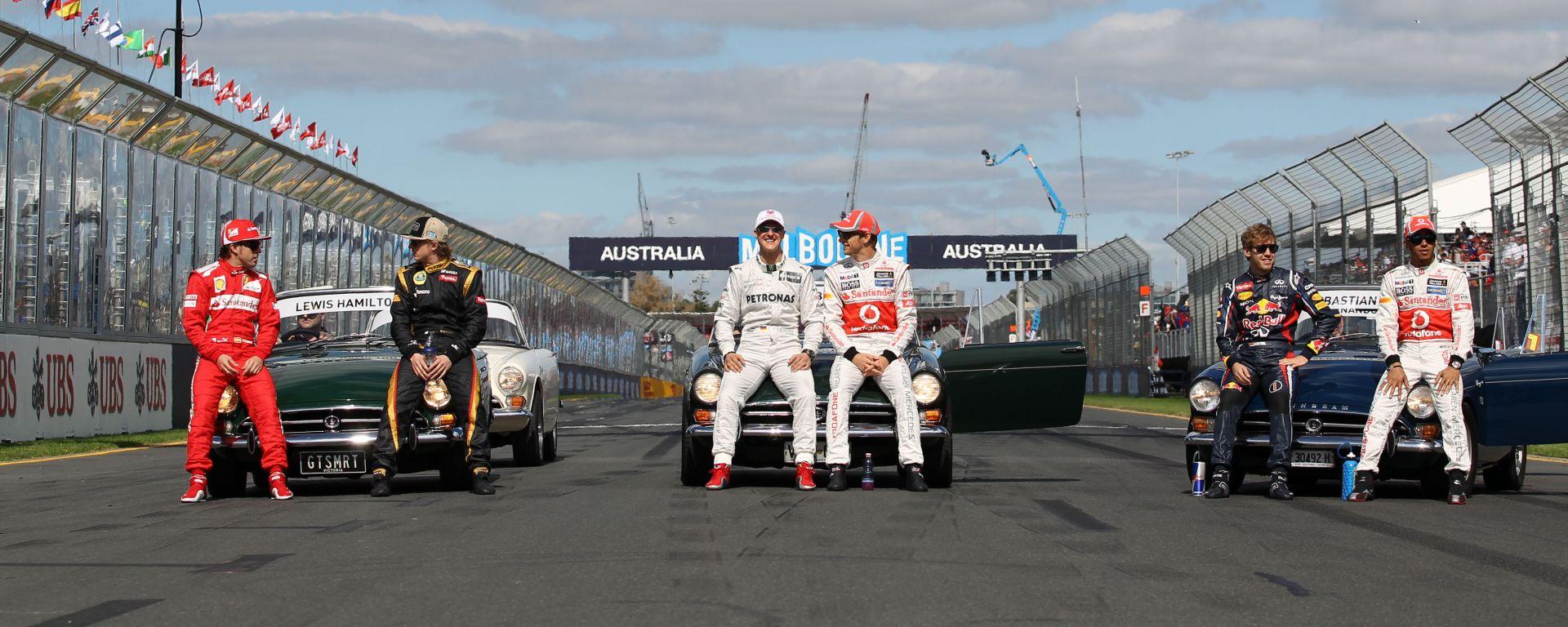 Albo d'oro Formula 1: Alonso (2005, 2006), Raikkonen (2007), Schumacher (1994, 1995, 2000-2004), Vettel (2010-2013), Hamilton (2