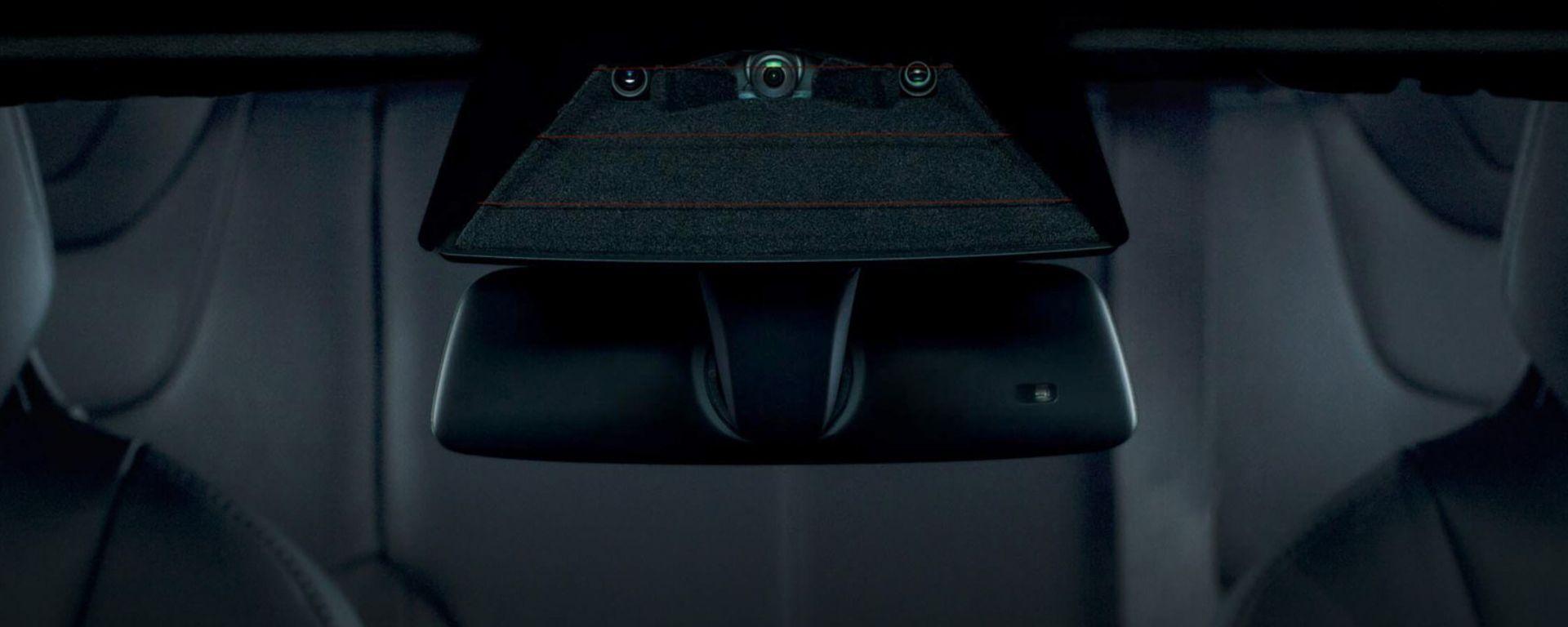 Alcune delle telecamere del sistema Tesla Cam