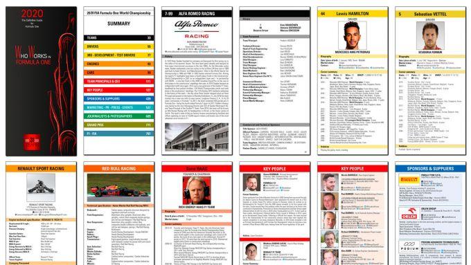 Alcune pagine della guida Who Works in F1