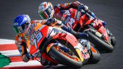 Alex Marquez (Honda) e Andrea Dovizioso (Ducati)