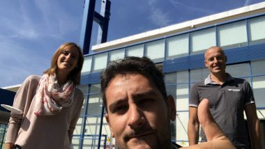 Alexandra e Daniel del Centro per l'Innovazione Tecnologica di Bolzano