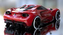 Alfa Romeo 4C by Yung Presciutti, i parafanghi posteriori abbracciano i fanali a formare lo spoiler