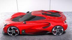 Alfa Romeo 4C by Yung Presciutti, il fondo piatto sporge dalla fiancata