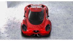 Alfa Romeo 4C by Yung Presciutti, il frontale dall'alto
