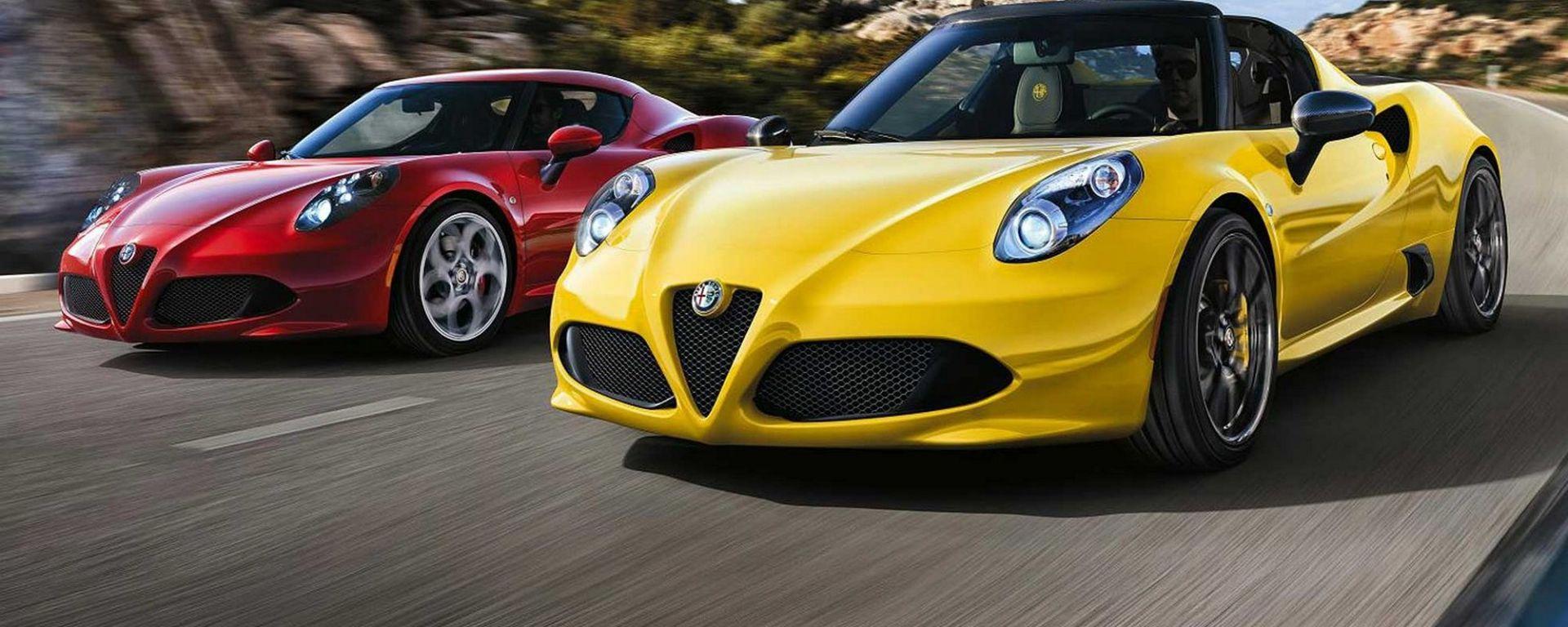 Alfa Romeo 4C Coupé e Spider, destini diversi