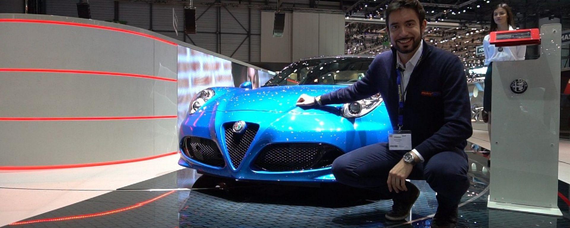 Alfa Romeo 4C Spider Italia al Salone di Ginevra 2018